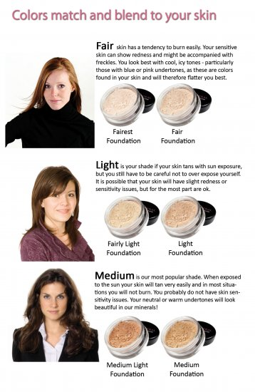 Free sample bare, loose minerals foundation by earth diva, spf 15.