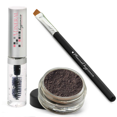 Mineral Brow Starter Kit - Jet Black - Click Image to Close