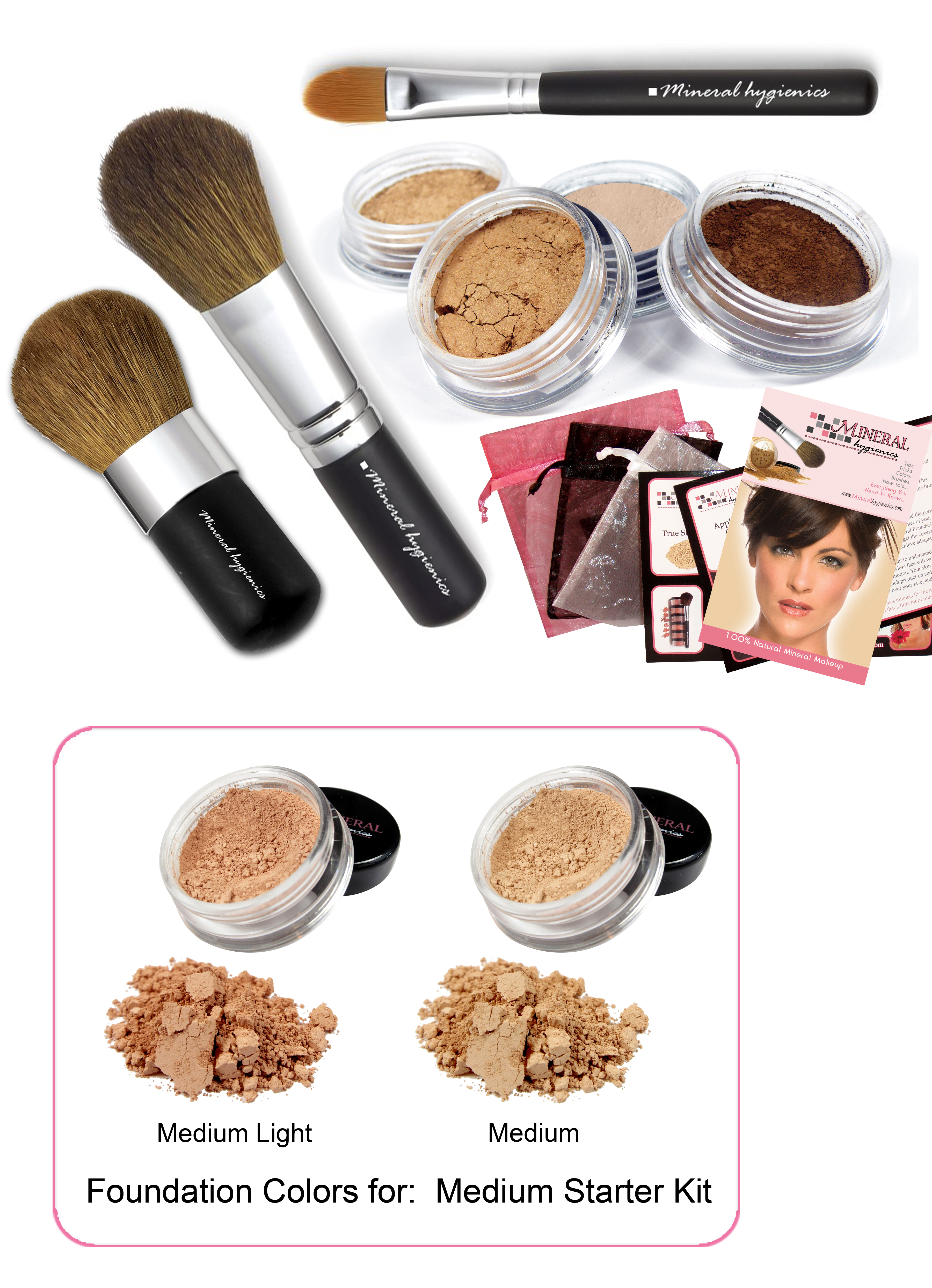 Mineral Makeup Starter Kit - Medium
